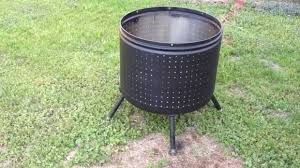 Making Fire Pit From Washer Tub - washer tub fire pit fire pit ideas