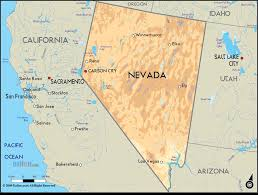 us desert map geographical map of nevada and nevada geographical maps