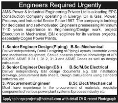 piping design engineer job description senior engineer design piping job in ams power industrial