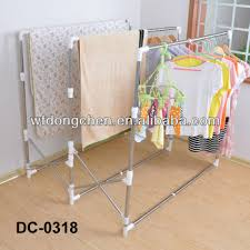 solid stainless steel folding clothes drying rack of triple