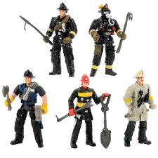 firefighter figurines true heroes rescue heroes 4 inch figure 5 pack