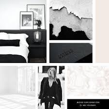 Black White Interior Mel Volkman Interior Design Brand Modern Brand Board Mood Board