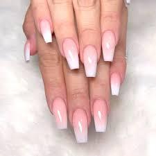 White Pink Nail Awesome White Acrylic Nails Naildesignsjournal Com
