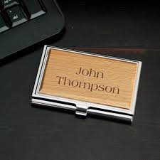engraved office gifts personalized business card holder