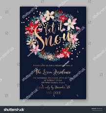 christmas party invitation poster template romantic stock vector