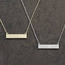 personalized nameplate necklace personalized nameplate necklace initials