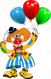 clown balloon l cheerful clown with balloons vector royalty free cliparts