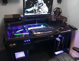 Custom Gaming Desk Gaming Computer Desk Plans Woodworking Thedigitalhandshake Furniture