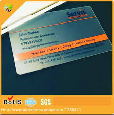 Translucent Plastic Business Cards Compare Prices On Transparent Plastic Business Card Online