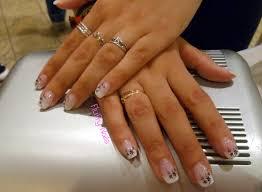 dessin sur ongle en gel fluffy nails pose 41 faux ongles en gel capsules french sur
