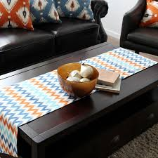table runner for coffee table jo s warm wendy table runner classic geometric rectangle tv stand