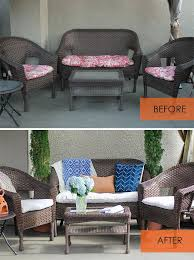 Reupholster Patio Furniture Cushions How To Recover Patio Cushions Without Sewing Patio Cushions