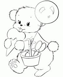 baby bear coloring pages pertaining to encourage to color an image