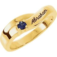 Name Chains Gold Gold 1 To 4 Stones Names Engravable Mother Ring
