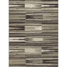 Concord Global Area Rugs Concord Global Trading New Casa Patch Stripes Grey 7 Ft 10 In X