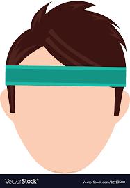 headband sport with sport headband royalty free vector image
