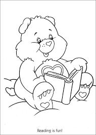 care bears reading fun coloring