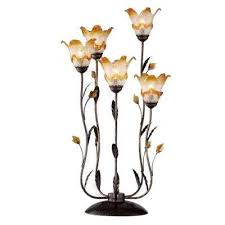 Flower Table Lamp Ok Lighting Table Lamps Lamps U0026 Shades The Home Depot