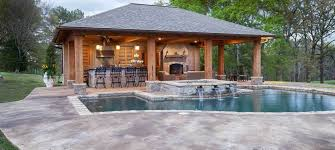 pool home plans pool house plans with outdoor kitchen polkadot homee ideas