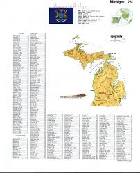 Maps Of Michigan Topographic Map Of Michiganfree Maps Of North America