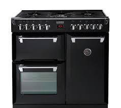 buy stoves richmond 900dft dual fuel range cooker black free