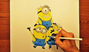 speed drawing draw minions despicable 2015