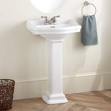 Bathroom Pedestal Sink Ideas Best Full Size Of Two Tones Wood Concrete Trough Sink Combined
