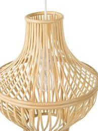 Wicker Pendant Light by Contemporary Pendant Lights Made From Seashells Or Woven Materials