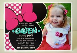 minnie mouse 2nd birthday invitations cloveranddot com