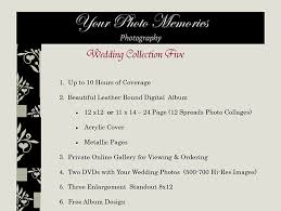 wedding photography prices competitive prices custom wedding packages your photo memories