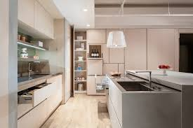 design modern kitchen design khaki cabinets without handle