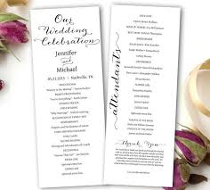 simple wedding program template wedding program printable wedding program template tea length