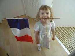 History Of The French Flag A And The French Flag Une Fille Et Le Drapeau Français Mkb