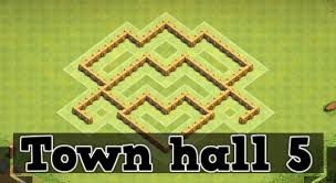 coc village layout level 5 clash of clans town hall 5 defense coc th5 best trophy base layout