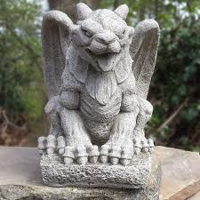 wing gargoyle cast garden ornament statue mythical