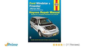 online car repair manuals free 1995 ford windstar engine control ford windstar freestar 1995 2007 repair manual haynes repair