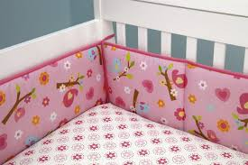 sweet lil birds 7 piece baby crib bedding set and secure me bumper