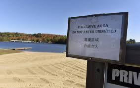 halloween city algonquin chinese signs divide resort area owners near algonquin park the