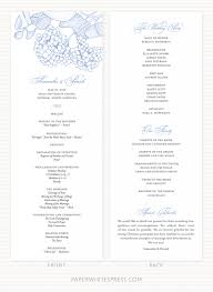 wedding progams hydrangea wedding programs paperwhites wedding invitations