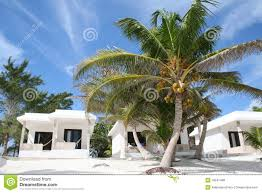 luxurious holiday resort in tulum beach mexico royalty free