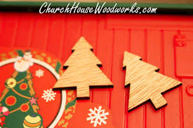 mini wooden christmas tree ornaments set of 25 for sale church