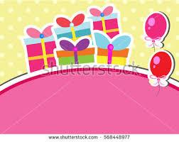 cute happy birthday card stock vector 138487784 shutterstock
