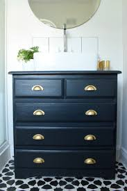 turning an dresser into a bathroom vanity make do and diy