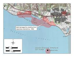 Map Of The Coast Of California Bombardment Of Ellwood Wikipedia