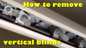 removing vertical blinds from the track without damage youtube