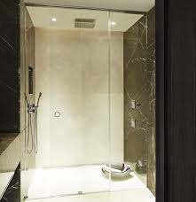 Majestic Shower Doors Odessa Recessed Sliding Glass Door Minimalist Shower Enclosure
