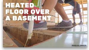 how to install radiant heat over basement youtube