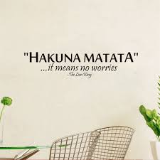 amazon com removable pvc wall sticker words sign quote hakuna amazon com removable pvc wall sticker words sign quote hakuna matata lion king bedroom background decoration by tiny paradise home kitchen