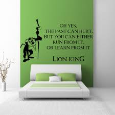 film tv movie quotes wall stickers iconwallstickers co uk the past can hurt rafiki lion king kids tv movie wall stickers home art decals