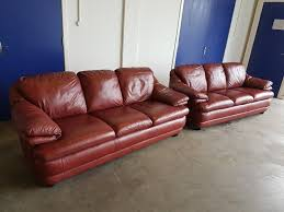 italian burgundy leather lounge suite 2 3 seater sofas sofa settee